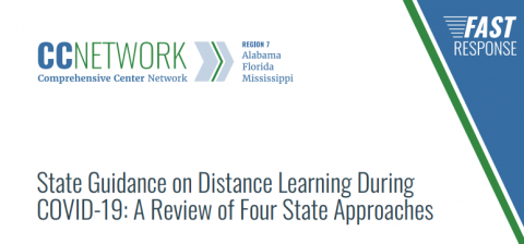 State Guidance on Distance Learning During COVID-19: A Review of Four State Approaches